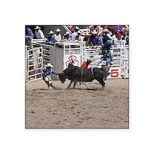 """bull 1 Square Sticker 3"""" x 3"""""""