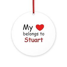 My heart belongs to stuart Ornament (Round)