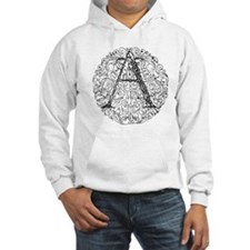 Intricate Celtic A in Circle Hoodie