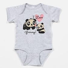 Pandas I Love Granny Baby Bodysuit