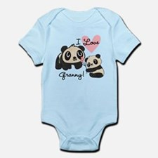 Pandas I Love Granny Infant Bodysuit