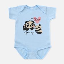 Pandas I Love Granny Onesie
