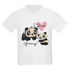 Pandas I Love Granny T-Shirt