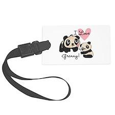 Pandas I Love Granny Luggage Tag