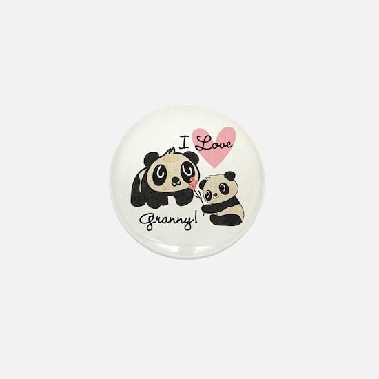 Pandas I Love Granny Mini Button