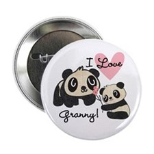 "Pandas I Love Granny 2.25"" Button"