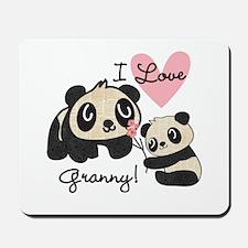 Pandas I Love Granny Mousepad