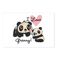Pandas I Love Granny Postcards (Package of 8)