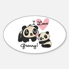Pandas I Love Granny Decal