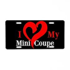 I Love My Mini Aluminum License Plate