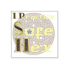 """SafeHex Square Sticker 3"""" x 3"""""""