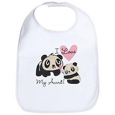 Pandas I Love My Aunt Bib