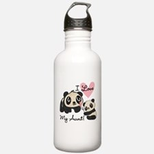 Pandas I Love My Aunt Water Bottle
