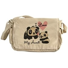 Pandas I Love My Aunt Messenger Bag