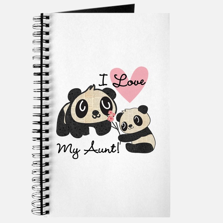 Pandas I Love My Aunt Journal
