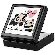 Pandas I Love My Aunt Keepsake Box