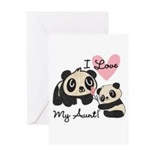 Pandas I Love My Aunt Greeting Card