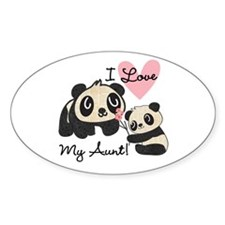Pandas I Love My Aunt Decal