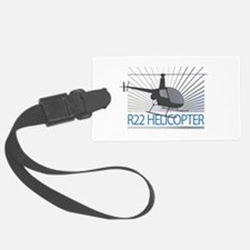 Aircraft R22 Helicopter Luggage Tag