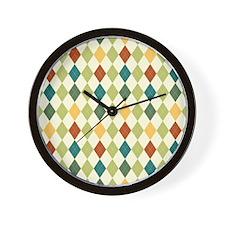 Paxton Argyle Pattern Wall Clock