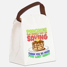 pancakesforlastnight Canvas Lunch Bag