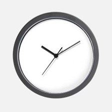 10x10whnotrespassingsmssjrcp Wall Clock