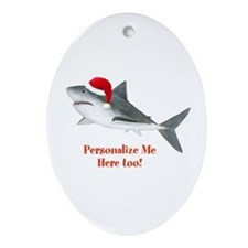 Personalized Christmas Shark Ornament (Oval)