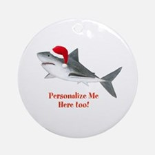 Personalized Christmas Shark Ornament (Round)