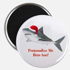 """Personalized Christmas Shark 2.25"""" Magnet (10 pack"""