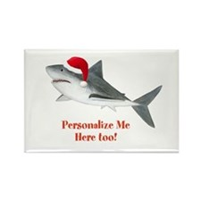Personalized Christmas Shark Rectangle Magnet