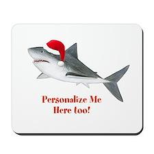 Personalized Christmas Shark Mousepad