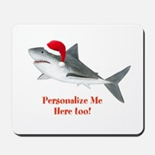 Personalized Christmas Shark Mousepad