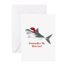 Personalized Christmas Shark Greeting Cards (Pk of