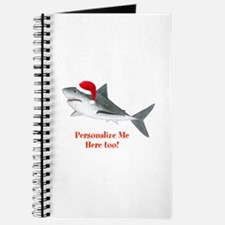 Personalized Christmas Shark Journal