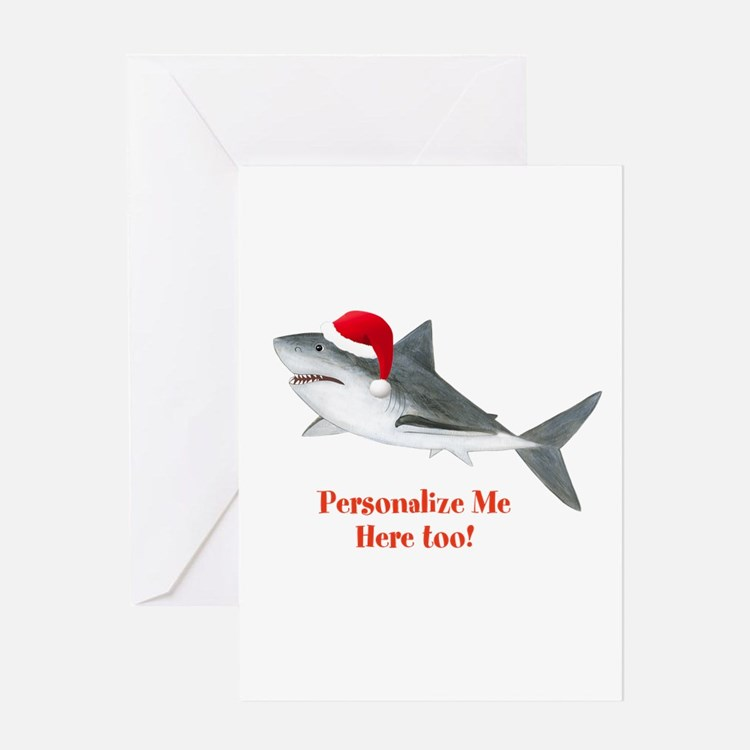 Personalized Christmas Shark Greeting Card