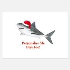 Personalized Christmas Shark Invitations