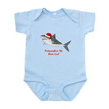 Personalized Christmas Shark Infant Bodysuit