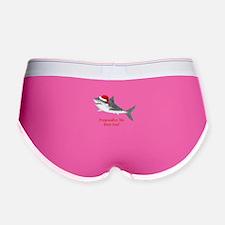 Personalized Christmas Shark Women's Boy Brief
