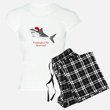Personalized Christmas Shark Pajamas