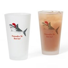 Personalized Christmas Shark Drinking Glass