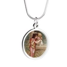 Romeo and Juliet Silver Round Necklace