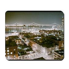 San Francisco Bay Bridge at Night Mousepad