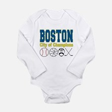 Boston City of Champions Long Sleeve Infant Bodysu