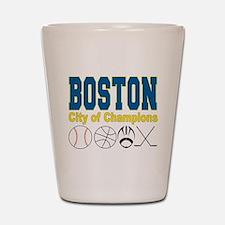 Boston City of Champions Shot Glass
