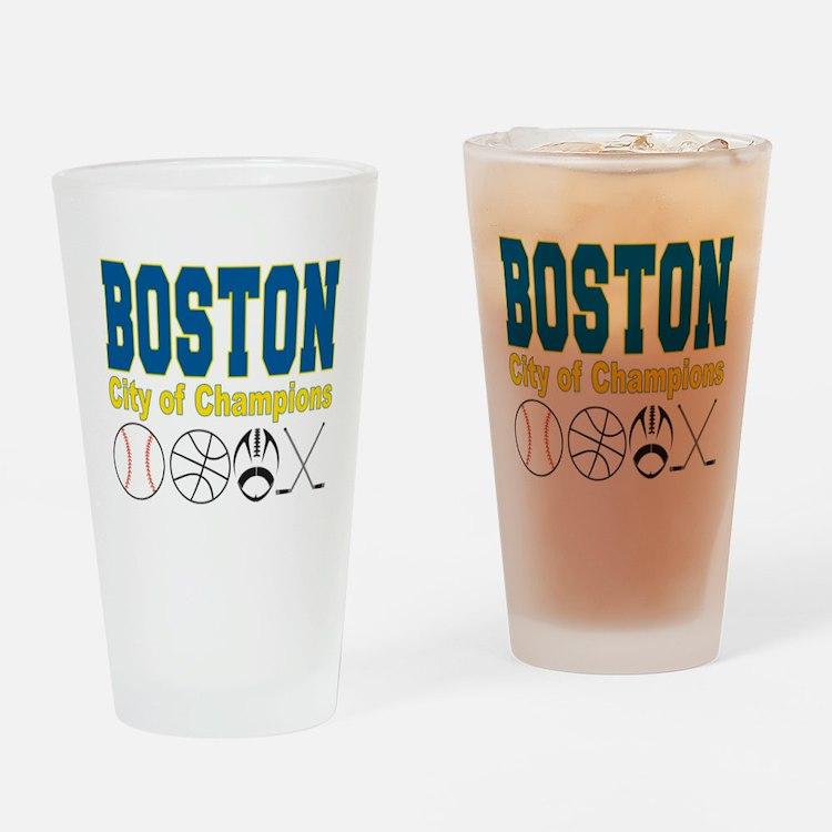 Boston City of Champions Drinking Glass