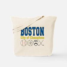 Boston City of Champions Tote Bag
