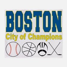 Boston City of Champions Throw Blanket
