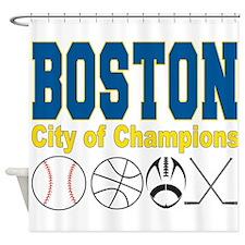 Boston City of Champions Shower Curtain