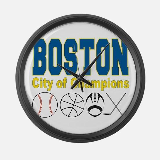 Boston City of Champions Large Wall Clock