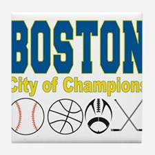 Boston City of Champions Tile Coaster